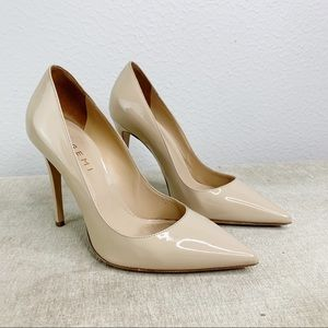 M. Gemi Nude Patent Leather Stilettos H37